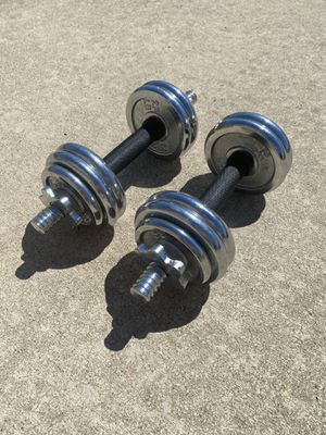 2 adjustable dumbbells. 16 pounds each. for Sale in Edwardsville, IL