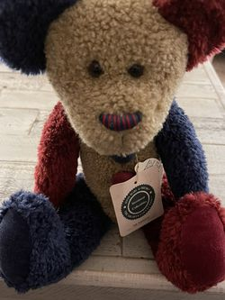 """Boyds Bears 14"""" Plush Clown Bear Mr. Bojingles Red/Blue Archive Collection for Sale in Peyton,  CO"""