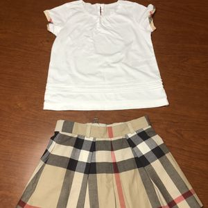 Girls Burberry Wool Cheek Skirt And Blouse for Sale in Weston, FL