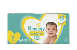 Pampers swaddlers size Newborn and size 2 for Sale in Houston, TX