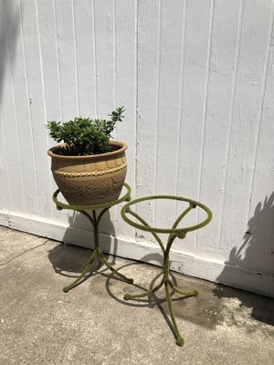 Two Faux Moss Plant Stands for Sale in Houston, TX