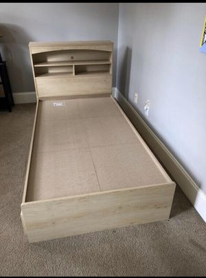 Twin bed frame with storage draws for Sale in Raleigh, NC