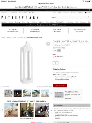 Outdoor White Lanterns - Caleb in White (2 Large/ 3 Small = 5 total) - $200 for all 5 lanterns! for Sale in Hermosa Beach, CA