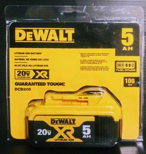 DeWalt 20v XR 5.0 battery (NEW) for Sale in Fort Worth, TX