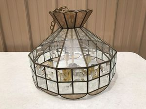 Stunning Tiffany Style Vintage Hanging Light W/Etched Glass for Sale in Wilmington, NC