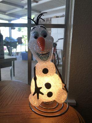 Disney Frozen Olaf Lamp for Sale in Houston, TX