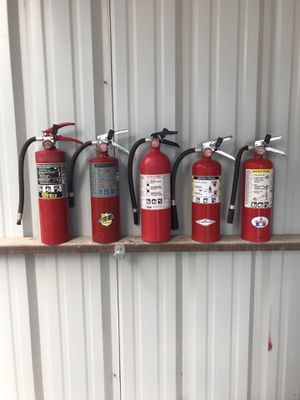 Pre-owned 5# ABC fire extinguishers for Sale in Odessa, TX