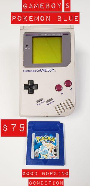 Original Gameboy & Pokemon Blue Version (New Battery) for Sale in South El Monte, CA