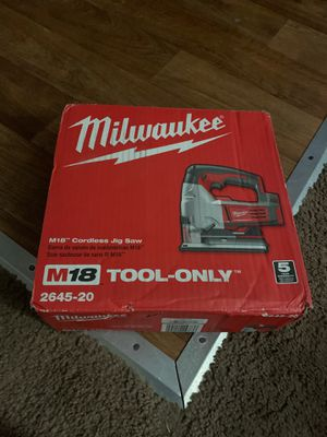 Jigsaw Milwaukee new m18 tool only for Sale in Santa Clara, CA
