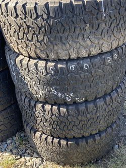 Set Of Four Goodrich LT 285 60 20 Tires for Sale in Kent,  WA