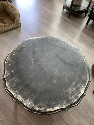 Gorgeous refurbished black/white coffee table and 2 end tables for Sale in Columbus, OH
