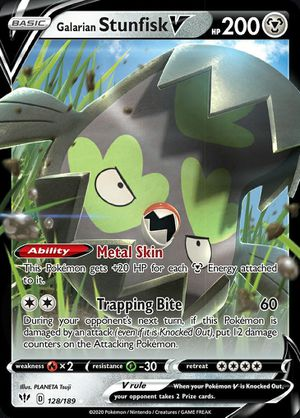 Galarian Stunfisk V 128/189 Darkness Ablaze Ultra Rare MINT Pokemon Card for Sale in Tomball, TX
