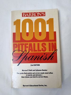 1001 Pitfalls in Spanish Book. Spanish Book. for Sale in Riverside, CA