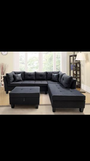 New black sectional with ottoman/ BLACK FRIDAY SALE 🔥‼️ for Sale in Houston, TX