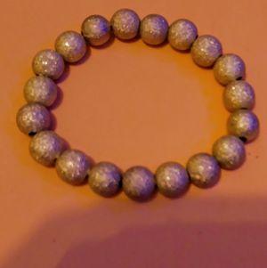 Sparkly gold/silver beaded stretchy bracelet for Sale in Altavista, VA