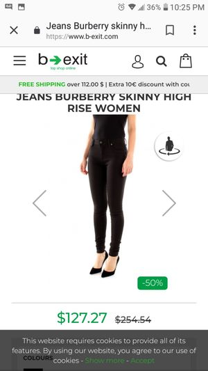 Authentic Burberry women's jeans size 31 for Sale in Tolleson, AZ
