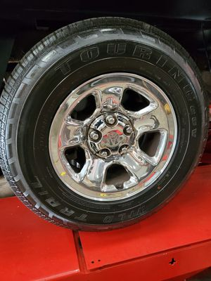 Dodge ram 1500 stock rims and tires brand new for sale $400 cash for Sale in Derby, CT