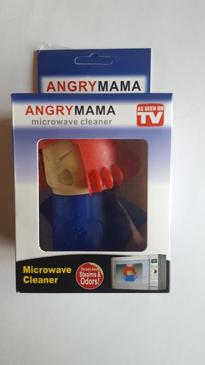 Angry Mama Microwave Cleaner Kitchen Gadget Steam Away Stains & Odors As Seen On TV for Sale in Los Angeles, CA