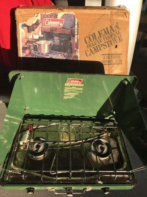 Coleman double burner deluxe propane camp stove for Sale in Henderson, NV