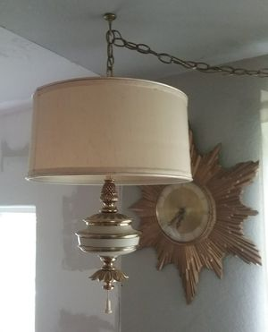 Excellent PAIR of Vintage STIFFEL Hanging Lamps High-End Mid-Century for Sale in Puyallup, WA
