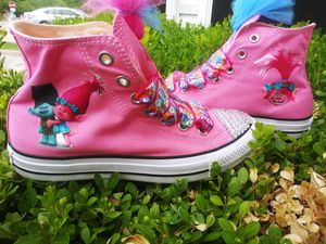 Trolls converse (read description)made by me for Sale in Fort Worth, TX