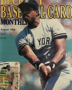 Beckett August 1988 issue #41 Front Cover Dave Winfield, Back Cover Mark Grace Rated Rookie. for Sale in Boston,  MA