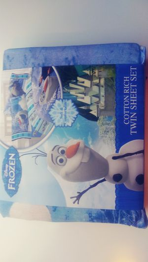 NEW Twin Frozen Olaf Bed Sheets for Sale in Davie, FL