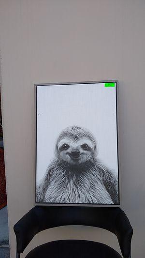 Sloth Canvas Art 23 x 33 for Sale in Santa Clara, CA