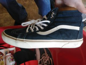 Vans skater shoes for men size 10 and a half with maybe a handful of times for Sale in Leicester, NC