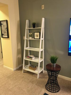 Brand New White Wood Ladder Shelf (New in Box) for Sale in Silver Spring, MD