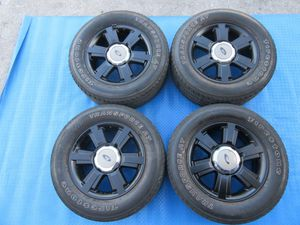 "20"" Ford F150 6 lug painted black wheels rims 6142 for Sale in Miami, FL"