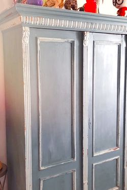 Gorgeous Vintage Turquoise Armoire for Sale in Encinitas,  CA