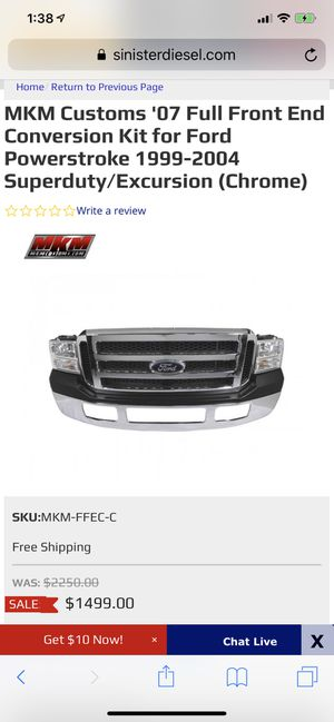 2007 super duty front end to 99-04 for Sale in Burien, WA