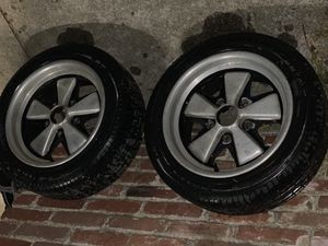Porsche 911 fuchs alloys reproduction wheels for Sale in La Puente, CA