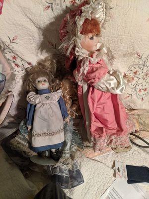Ceramic doll assortment for Sale in Tampa, FL