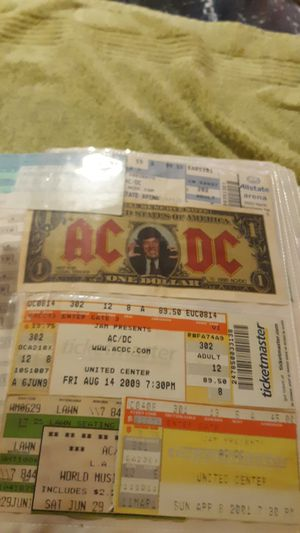 Rock concert ticket stub collection for Sale in Berwyn, IL