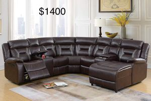 New Sectional Couch with recliner only $50 down payment for Sale in Los Angeles, CA