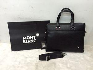 Montblanc Messenger unisex Laptop / office Leather Bag -black model#1065-5 for Sale in San Diego, CA