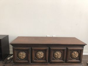 Wooden Tv stand with storage for Sale in San Diego, CA