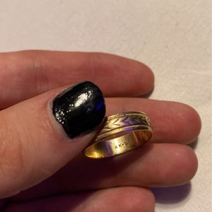 4K GOLD ,the Size Is A Large, My Grandpas Old Wedding Ring for Sale in Highlands Ranch, CO