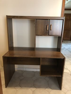 Wooden Desk Unit with Small Cabinet and Shelf for Sale in Holmdel, NJ
