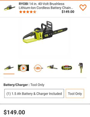 """New Ryobi 40v Brushless 14"""" Chainsaw (Tool Only) for Sale in Fontana, CA"""