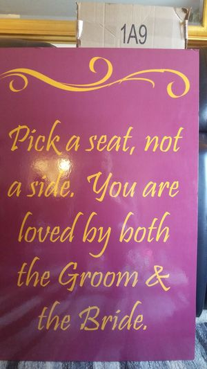 Burgundy and Gold Wedding sign for Sale in Sterling, VA