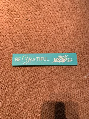 """10"""" """"beYOUtiful"""" Wooden Sign for Sale in Lake Mary, FL"""