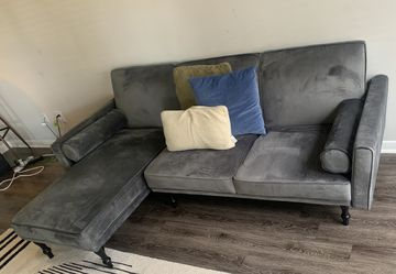 "Shelton 83"" Velvet Reversible Sleeper Sofa & Chaise for Sale in Atlanta,  GA"