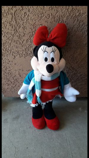 The Disney store plush stuffed animal Minnie Mickey mouse large self-standing for Sale in Tracy, CA