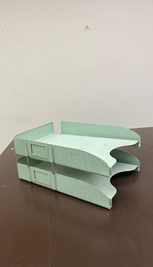 Vintage Green Steel Paper File for Sale in New York, NY