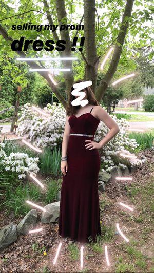 deep burgundy velvet prom dress for Sale in Felton, DE