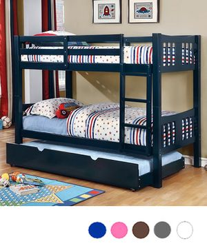 Twin/Twin Bunk Bed with Trundle for Sale in Glendale, AZ