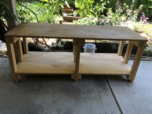 Wood Media Center Entertainment Stand Record Cabinet Shelf Coffee Table Multi-Use for Sale in Menlo Park, CA